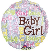 Anagram Baby Girl Sparkles Printed Balloon (Multicolor, Pack Of 1)