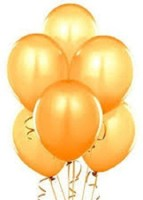 LIGHTER HOUSE Solid Balloon (Gold, Pack Of 50)