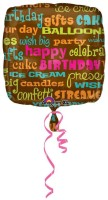 Anagram Birthday Words 18 Printed Balloon (Multicolor, Pack Of 1)