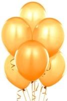 NXT GEN Solid Golden Metallic Pack Of 50 Pcs Balloon (Gold, Pack Of 50)