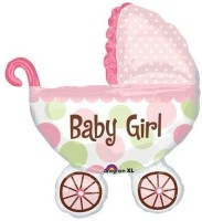Anagram Baby Buggy Girl Printed Balloon (Multicolor, Pack Of 1)