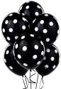 Tiger Polka Dot Large Solid Balloon - Black, Pack Of 30