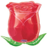 Anagram Rose Bud Foil Printed Balloon (Multicolor, Pack Of 1)