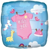 Anagram Baby Girl Oneise Printed Balloon (Multicolor, Pack Of 1)
