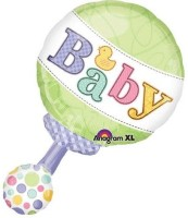Anagram Tiny Bundle Rattle Printed Balloon (Multicolor, Pack Of 1)