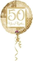 Anagram 50th Years Together Printed Balloon (Multicolor, Pack Of 1)