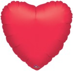 Anagram Metallic Red Heart 18 inch