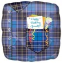 Anagram Grandpa Plaid Birthday - 18 Inch Printed Balloon - Multicolor, Pack Of 1