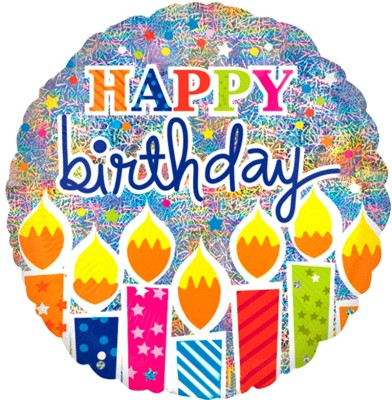 Amscan Shimmer Birthday Candle