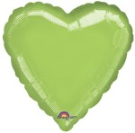 Anagram Metallic Lime Green Heart 18""