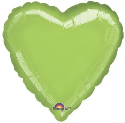 "Anagram Metallic Lime Green Heart 18"""