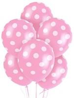 Tiger Polka Dot Printed Balloon (Pink, Pack Of 10)