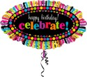 Anagram Happy Birthday Rainbow Printed Balloon - Multicolor, Pack Of 1