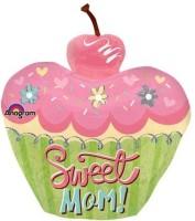 Anagram Sweet Mom Cupcake Printed Balloon (Multicolor, Pack Of 1)