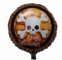 Funcart Happy Halloween Round Foil Printed Balloon (Multicolor, Pack Of 1)