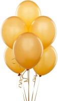 Shatchi Solid Balloon (Gold, Pack Of 1)