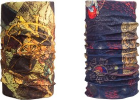 Noise Combo Of Noise 13 In 1 Golden Navigator And Archaic Temple Headwrap Men's Printed Bandana Pack Of 2