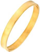 The Jewelbox Matt Free Size Kada Stainless Steel Yellow Gold Plated Bracelet