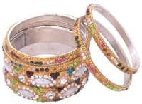 Aakshi Pahnungi Piya Ki Chudi Metal, Alloy Bangle Set Pack Of 6