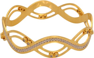 Vendee Fashion Cz Party Brass Bangle