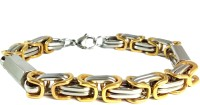 Ammvi Creations 3d Byzantine Two-Tone For Men Stainless Steel Bracelet
