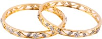Mgold Alloy 18K Yellow Gold Plated Bangle Set Pack Of 2