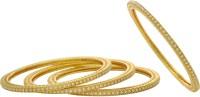 Hyderabad Jewels Copper Pearl Rhodium Bangle Set Pack Of 4