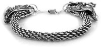 D&D Double Snake Style Alloy Silver Plated Bracelet