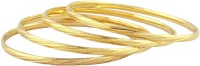 Senorita Beautiful Brass Yellow Gold Plated Bangle Set Pack Of 4