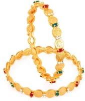 Sukkhi Lord Lakshmi Copper 18K Yellow Gold Plated Bangle Set Pack Of 2