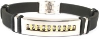 Ammvi Creations AD Studded Chunky For Men Stainless Steel Bracelet