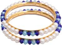 Classique Designer Jewellery Alloy Crystal Rhodium Plated Bangle Set Pack Of 2 - BBAEFKN6QBV4F9ZR
