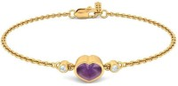 BlueStone The Ultimate Love Yellow Gold 18kt Diamond, Amethyst Bracelet - BBAEB73MWGNKQYKZ