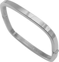 925 Silver Round Edge Square Designer Silver Rhodium Plated Bracelet
