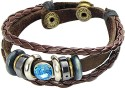 Young & Forever Couple's Delight Alloy, Leather Bracelet - BBADWZZDPG6GGATA