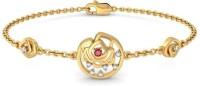 BlueStone The Loving Rose Yellow Gold 14kt Diamond, Ruby Bracelet