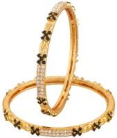 Vama Fashions Alloy Cubic Zirconia Rhodium Bangle Set Pack Of 2 - BBAEEYGP5FFSS5XP