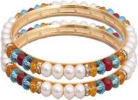 Classique Designer Jewellery Alloy Crystal Rhodium Plated Bangle Set Pack Of 2 - BBAEFKN6FGU86AZM