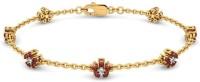 BlueStone The Flower Princess Yellow Gold 14kt Diamond, Ruby Bracelet