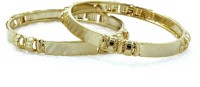 BDF May201544 Brass 14K Yellow Gold Plated Bangle Set Pack Of 2
