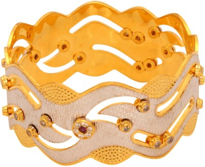 Vendee Fashion Dancing Cz Brass Bangle