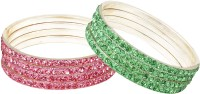 Bling N Beads Metal Bangle Set Pack Of 8