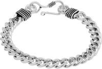 D&D Graceful Broad Links Alloy Silver Plated Bracelet