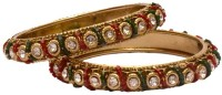 Kart4smart Smart Collection B05 Antique Kundan Designer Bangles Metal 10K Rose Gold Plated Bangle Set Pack Of 2