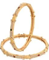 Vama Fashions Alloy Cubic Zirconia Rhodium Bangle Set Pack Of 2 - BBAEEYGPASC88Y6P