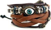 Streetsoul Evil Eye Leather Bracelet Set Pack Of 2