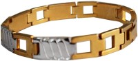 Rich & Famous Super Premium Quality Longlife Plating Dualtone Gold-Silver Fashion Stainless Steel Bracelet