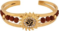 Magic Stones Om Kada Brass 18K Yellow Gold Plated 18 Kada