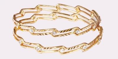 Opal Lubhavini Brass Opal 14K Yellow Gold 8 Bangle Set