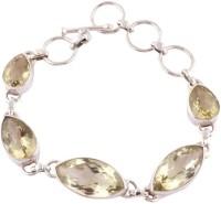 Kirti Gems Genuine Sterling Silver Quartz Bracelet